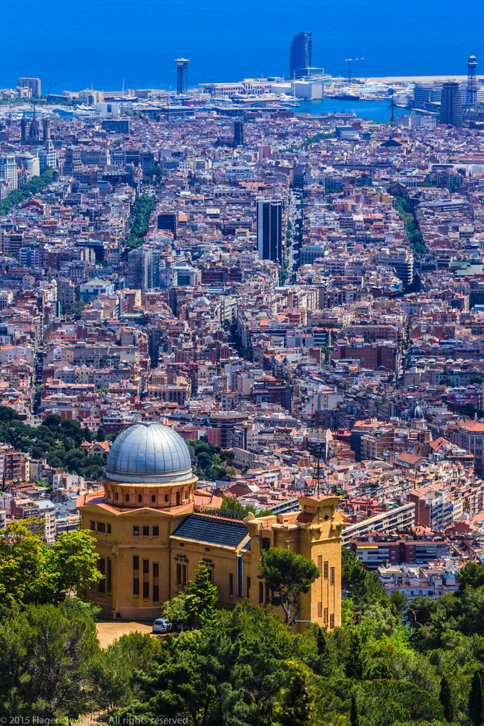 View from the Tibidado, Barcelona