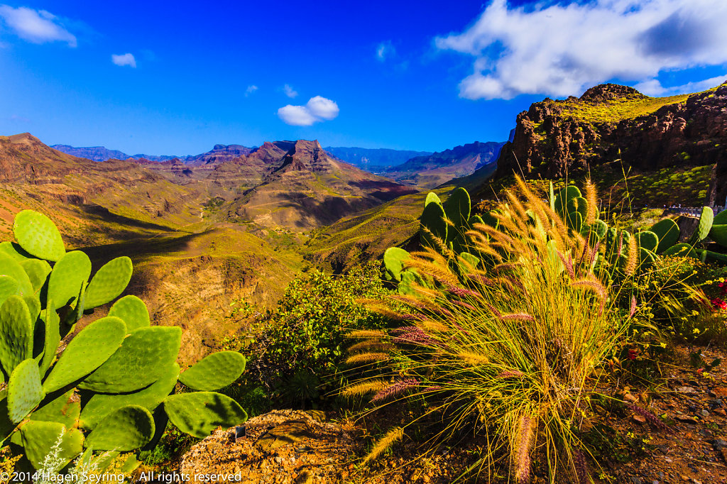 View to the mountain of Gran Canaria