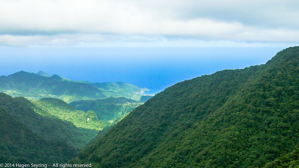 Look out to the Antlantic Ocean from Dominica