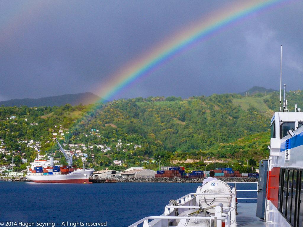 Arriving Roseau, Dominica