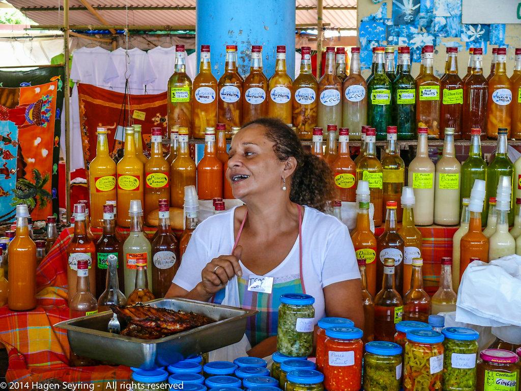 Market in Sainte-Anne