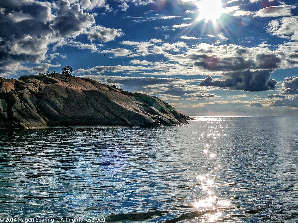 View to island Bla Jungfruns