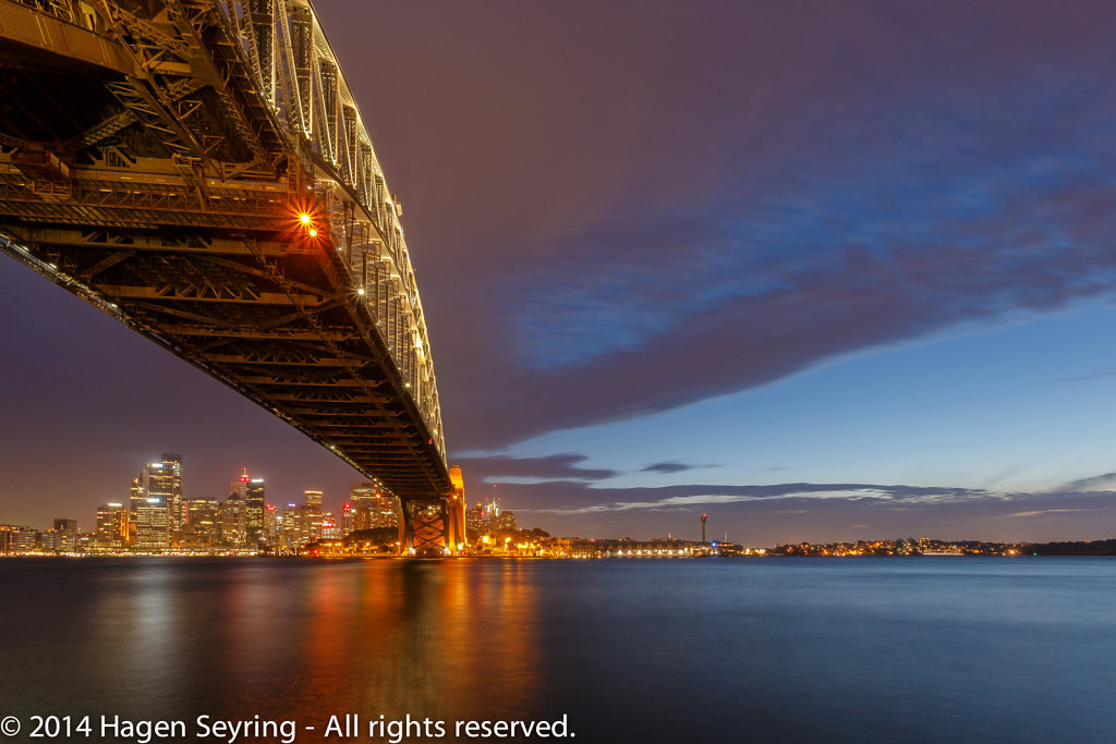 View to the Sydney Harbour Bridge from Milson Point