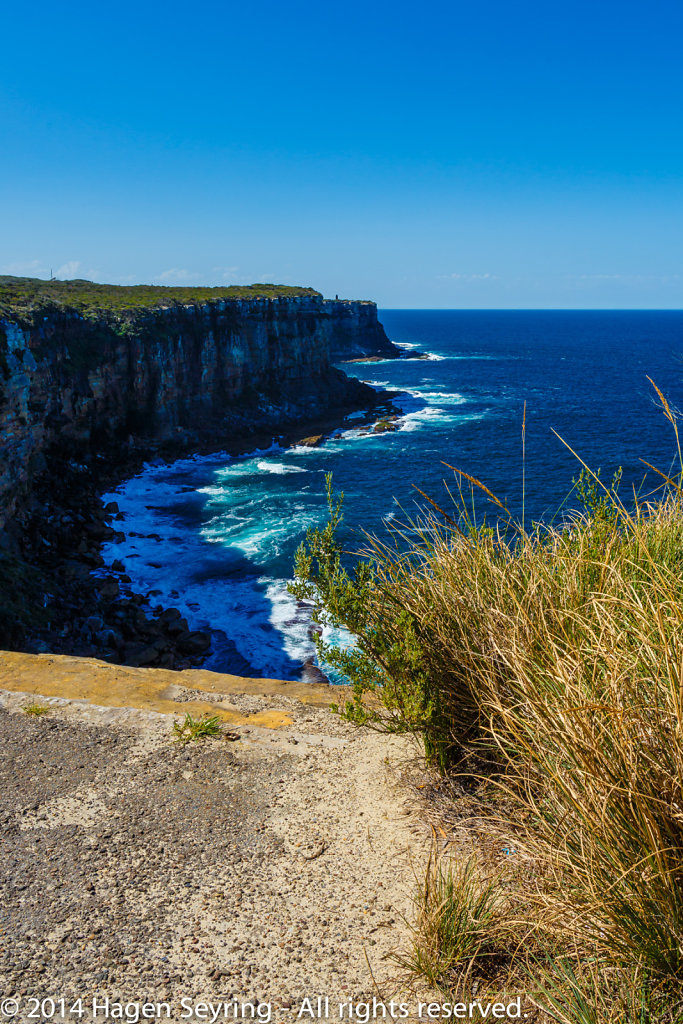 Scenic walk way on Manly - Steep cliff coast on Manly