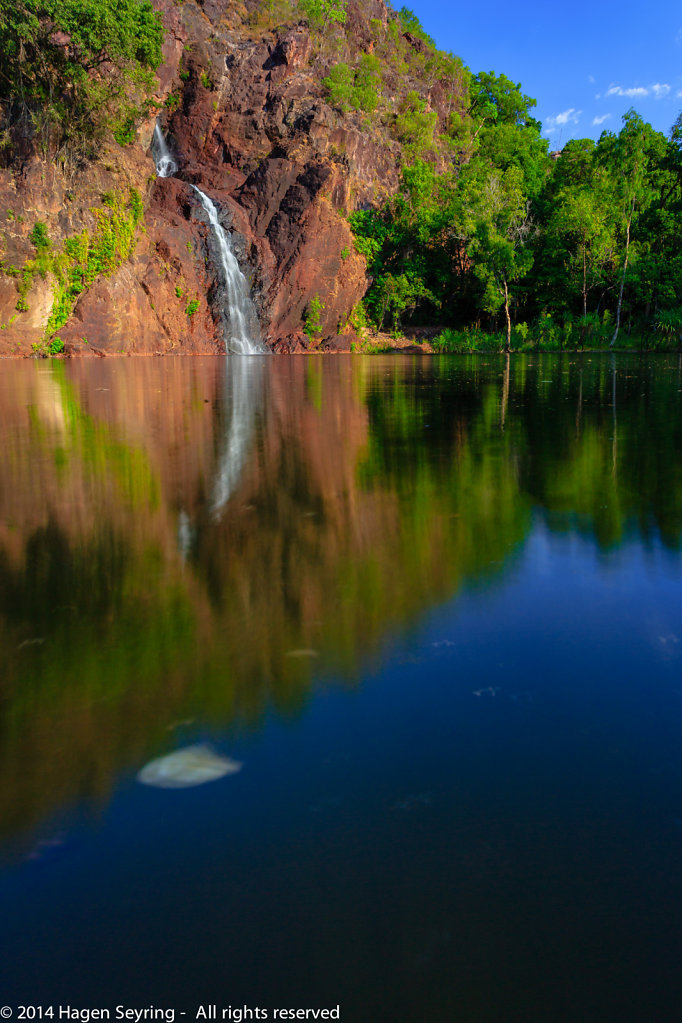Wangi Falls in the late afternoon