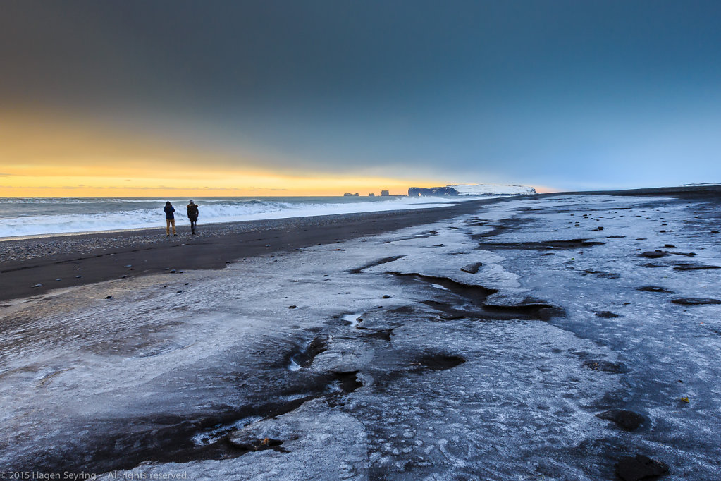 Black beach of Reynisfjara/ Vik, South Iceland