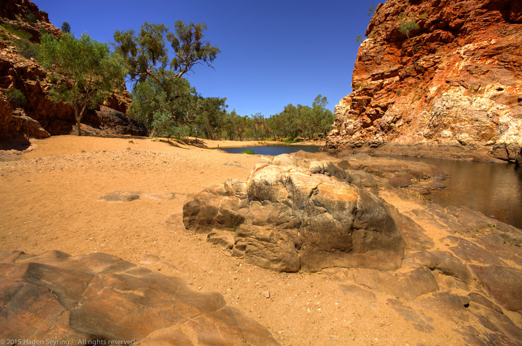 Waterhole in the Ormiston Gorge