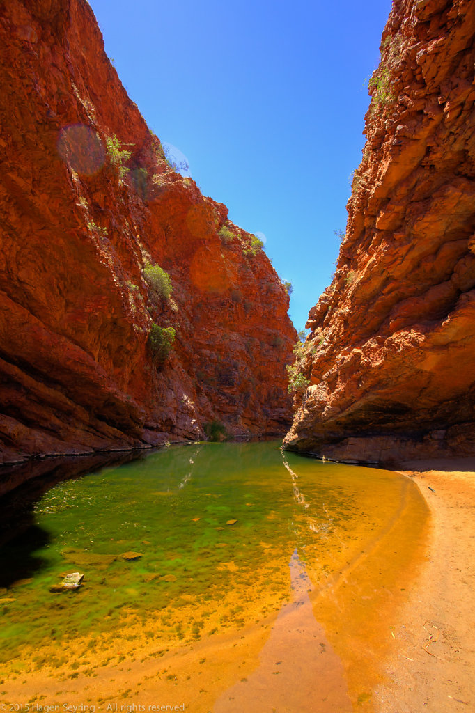 Waterhole in the Simpsons Gap