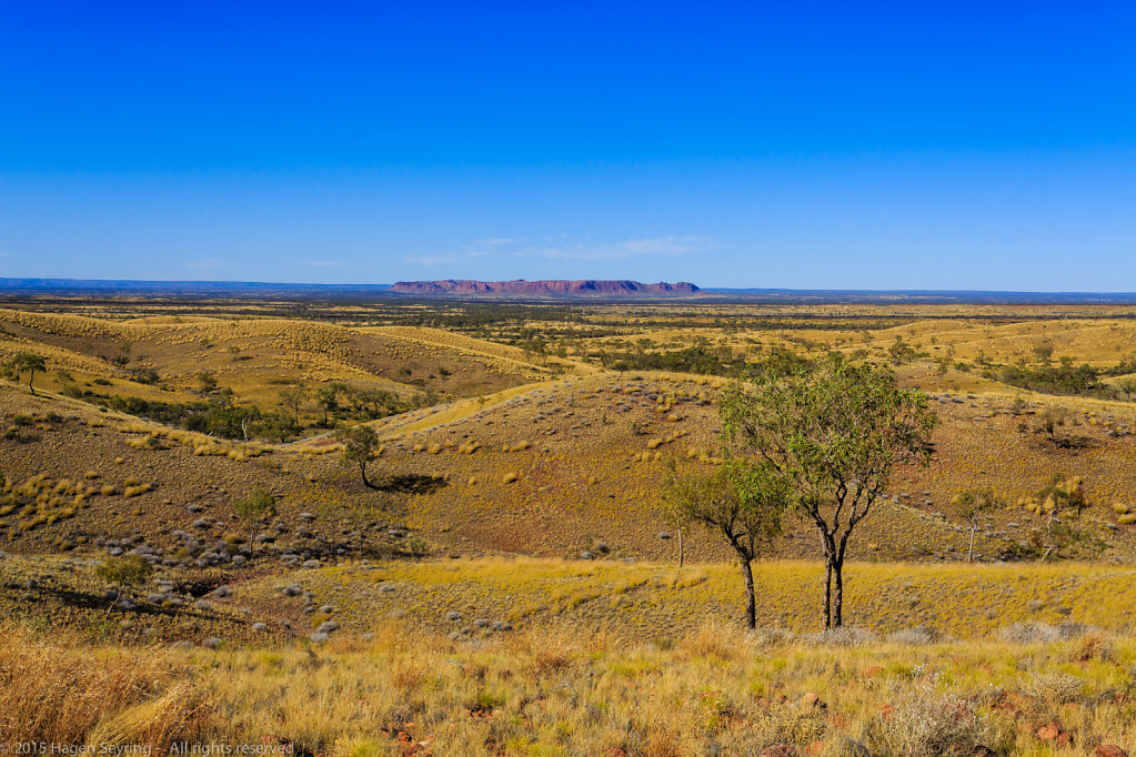 View at Gosses Bluff, which is thought to be a impact crater
