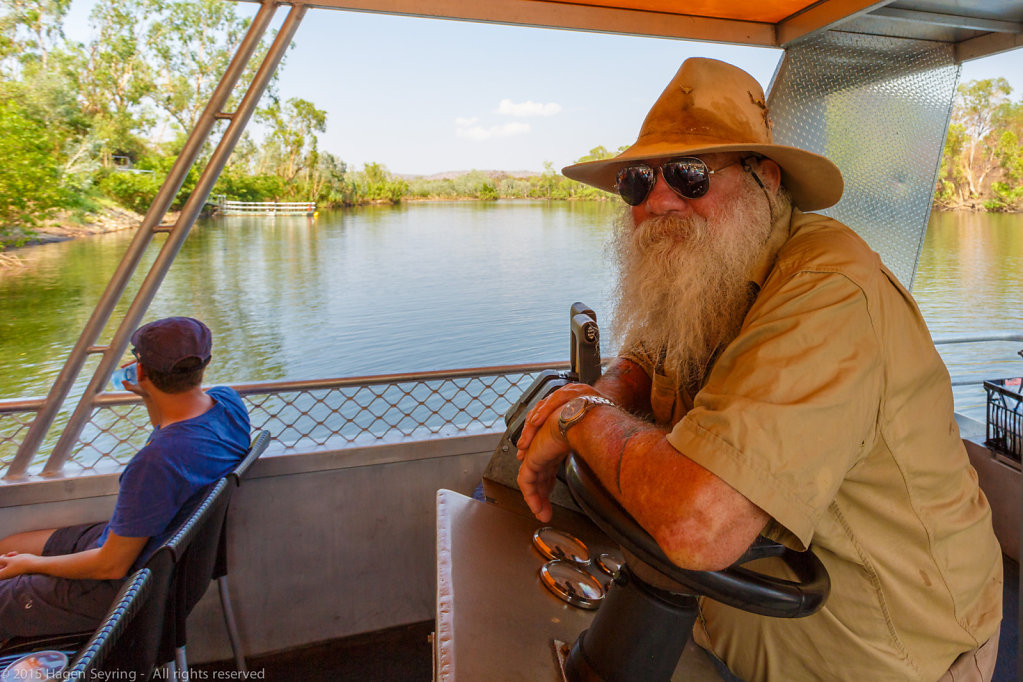 Our skipper on the Katherine Gorge