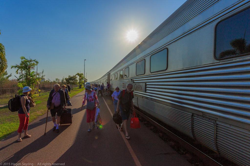 Arrival in Darwin