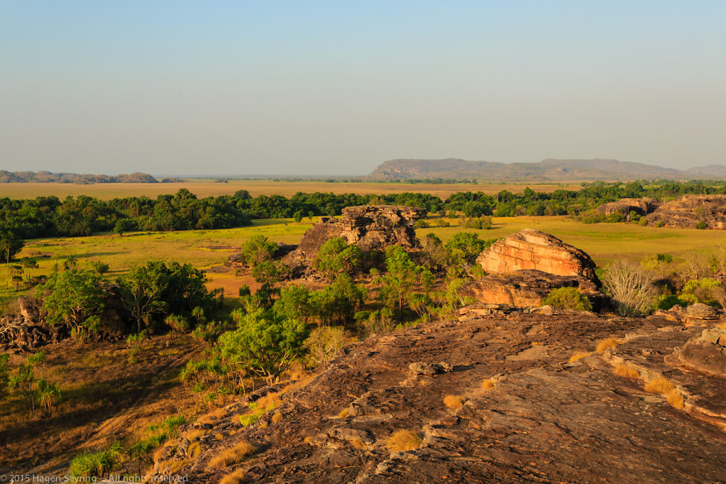 View from the ubirr rocks to the Arnhem Land
