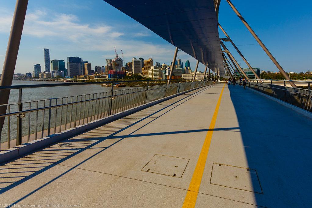 Goodwill Bridge in Brisbane